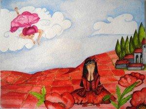La princesse arc-en-ciel et la petite fille en rouge Photo-094-300x224